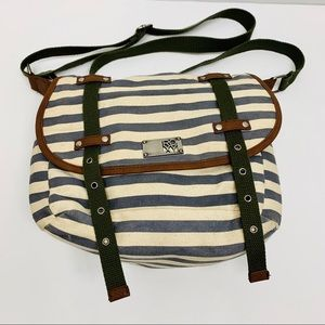 Roxy Striped Crossbody Satchel Bag